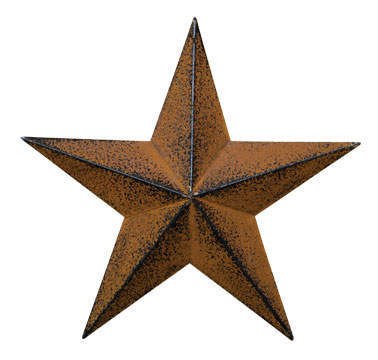 "G570712AB - Barn Star - Rust & Black Finish - 12"" by CWI"