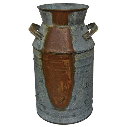 """G2507LAG - Galvanized Milk Can - 13"""" by CWI"""
