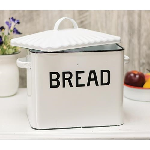 G3034BK - Black Rim Enamel - Bread Box by CWI