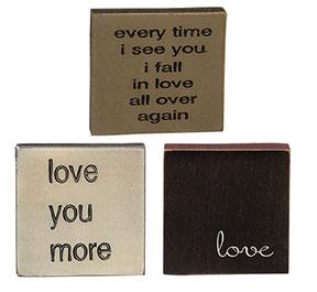 *Love Asst Square Sign
