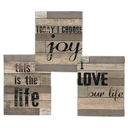 Love Life Slat Board Sign, Asst.