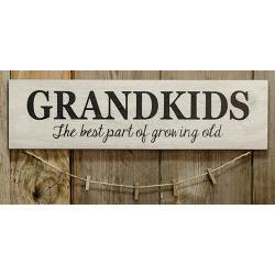 Grandkids Sign w/Clothespins